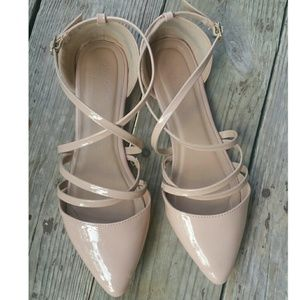 Charlotte Russe Nude Flats size 10